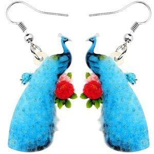 Peacock Acrylic Earrings